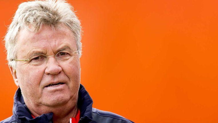 Guus Hiddink, bondscoach van het Nederlands elftal, kent Spanje goed. Hij was er trainer bij Real Madrid, Valencia en Betis Sevilla. Beeld anp