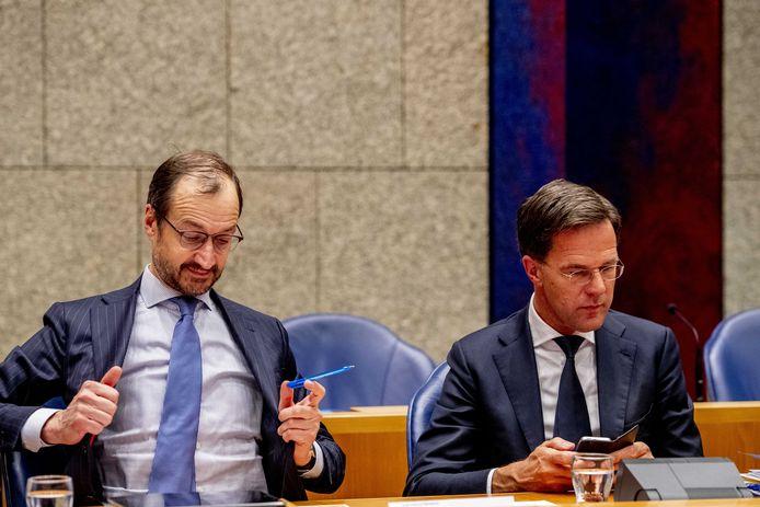 Mark Rutte  en Eric Wiebes.