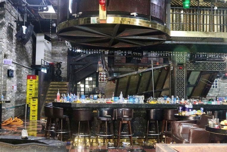 De hoger gelegen dansvloer van de discotheek in Gwangju stortte in.