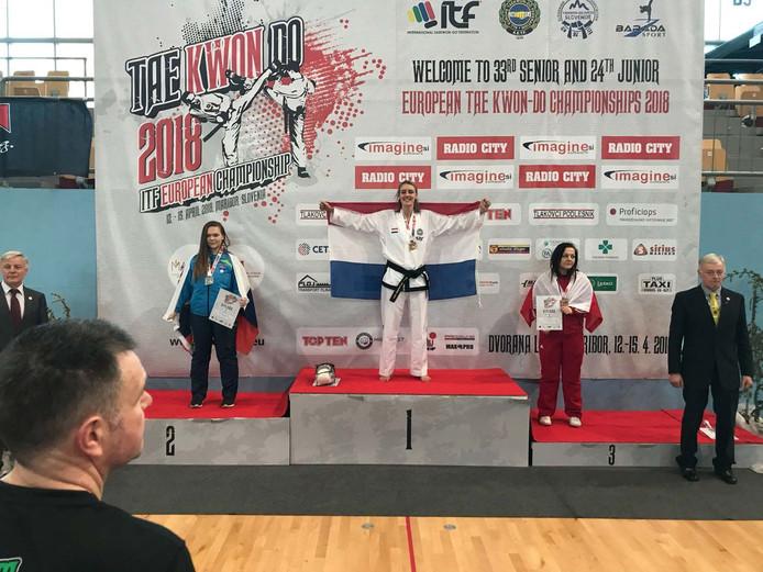 Nina Meppelder werd Europees kampioen in Maribor.
