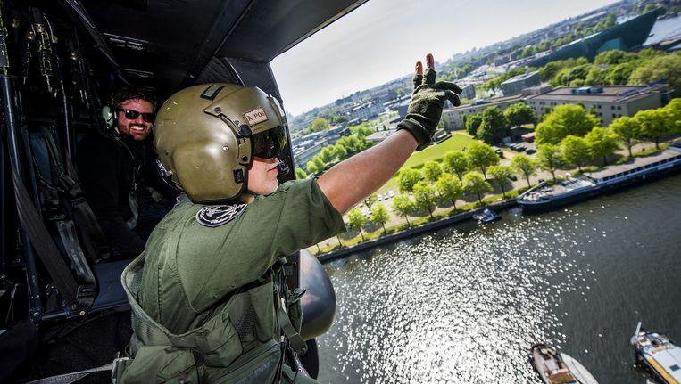 De Bevrijdingsfestival-helikopter in 2014. Beeld ANP