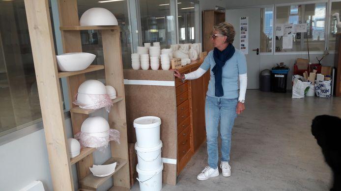 Directeur Tanja Verstappen in de galerie die deel uitmaakt van de nieuwe Talententuin.