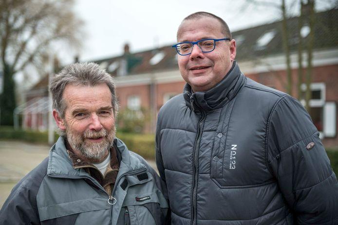 De Draaibruggeraat, waar Theo Buijsse (links) en Chris de Meyer (rechts) deel van uitmaken, wil snel een oplossing voor de dolende vrachtwagens.