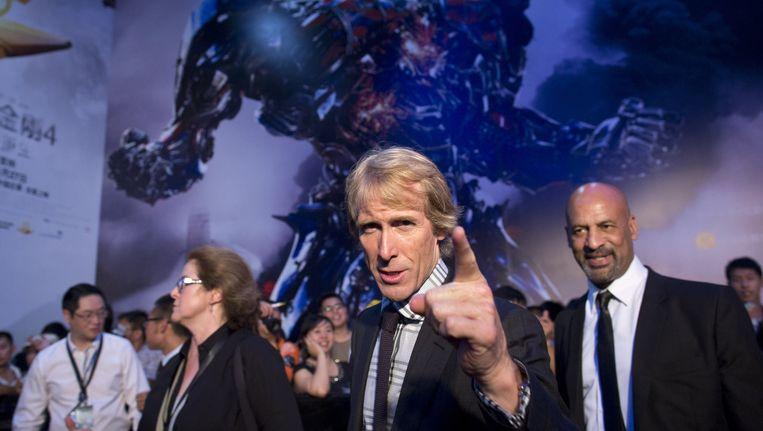 De regisseur Michael Bay bij de première van Transformers, de film met de meeste Razzie-nominaties