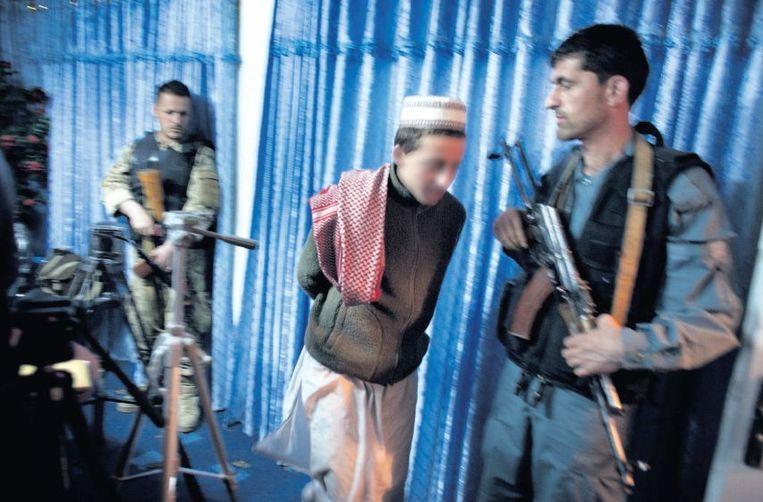 Nader Shah drie jaar geleden na zijn arrestatie. Hij was toen 15 jaar oud. Beeld Joël van Houdt