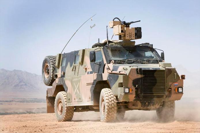 Het Landmacht beschikt over 45 Bushmasters.