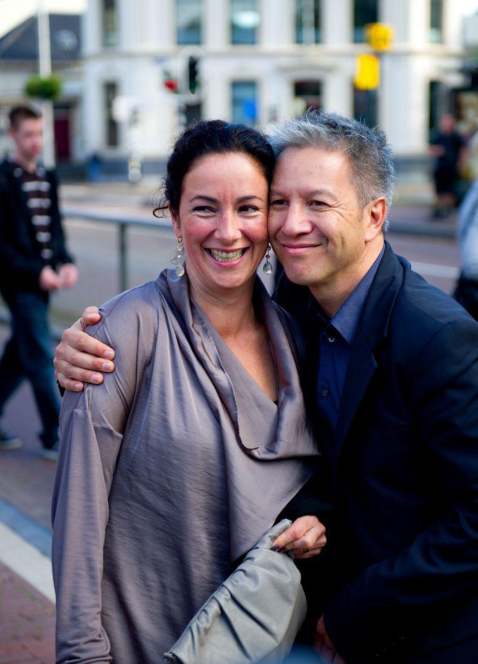 Femke Halsema met haar partner, regiseur Robert Oey.