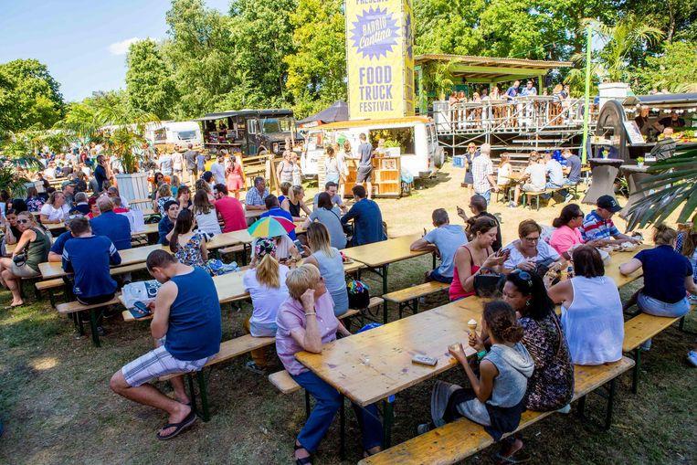 Het foodtruckfestival trok heel wat volk aan.