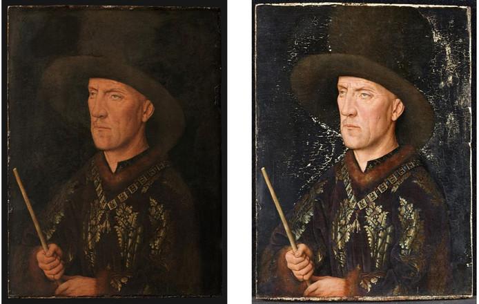 Dit werk van Van Eyck wordt door een museum in Berlijn uitgeleend. Het werd eerst grondig gerestaureerd