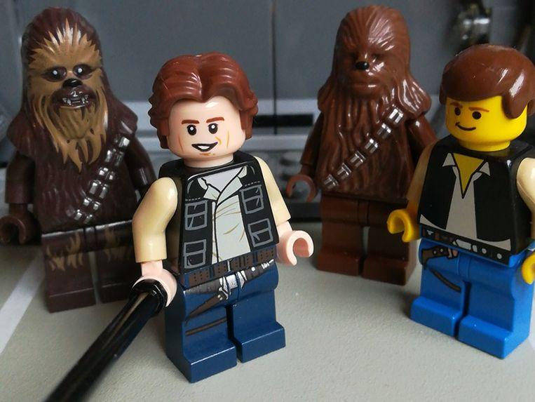 LEGO Star Wars: Han Solo & Chewbacca uit 1999 (rechts) en 2019 (links).