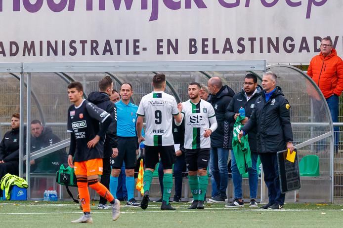 Nabil Haddadi viel in de vijftigste minuut in voor Tim Peters. Daarmee kreeg hij weer eens de kans om zich bij Scheveningen te laten zien.