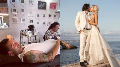 SHOWBITS. Sean Dhondt laat Mexicaanse tatoeage zetten en Dimitri Vegas viert huwelijksverjaardag