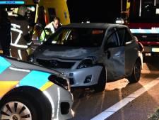 File op N36  tussen Hardenberg en Westerhaar na ongeval bij Sibculo