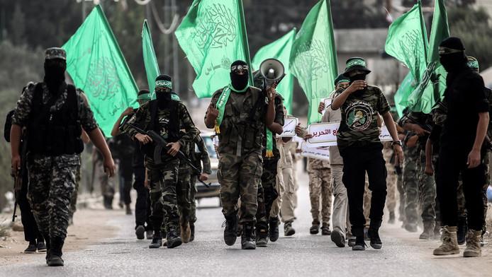 Leden van de Palestijnse Hamas beweging.
