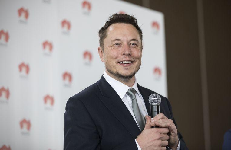 Elon Musk, baas van Tesla en een van de succesvolste ondernemers van dit moment. Beeld EPA