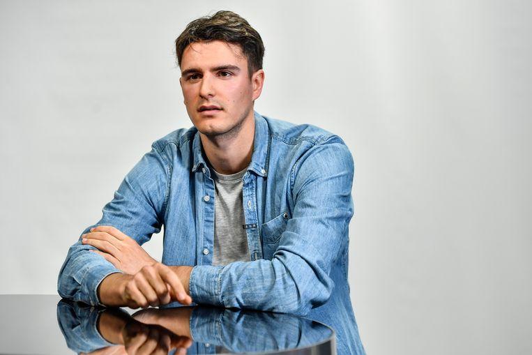 Conner Rousseau, de Oost-Vlaamse lijsttrekker voor het Vlaams parlement voor sp.a.