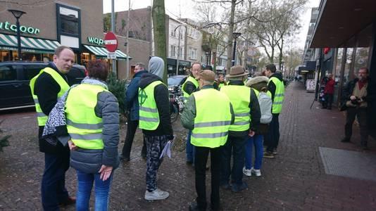 De actievoerders liepen twee grote rondes door het centrum van de stad.