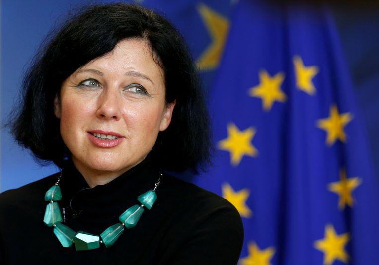 De Tsjechtische eurocommissaris Vera Jourová, bevoegd voor Justitie en Consumentenrechten.