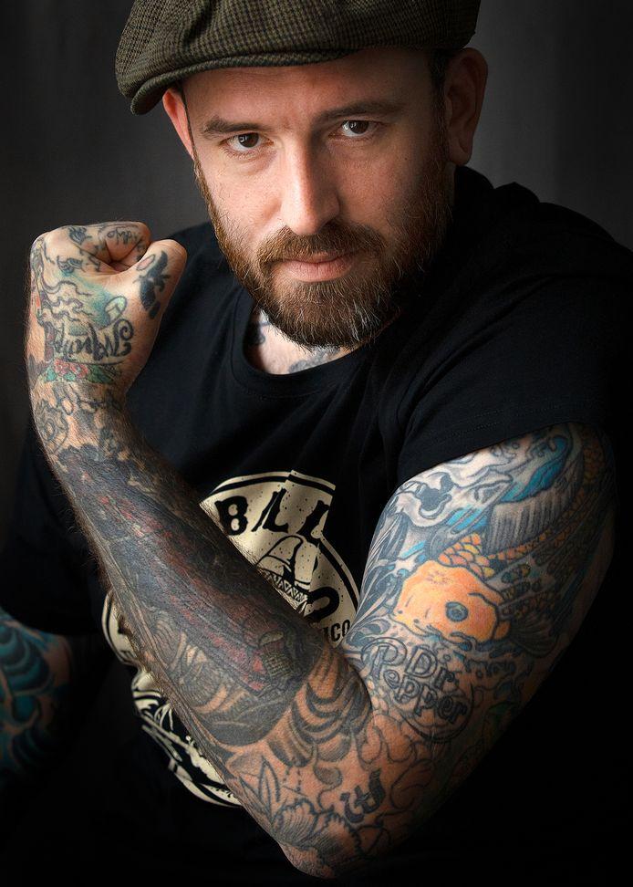 Ben Saunders, voor de rubriek Mijn Tattoo en Ik, Arnhem.