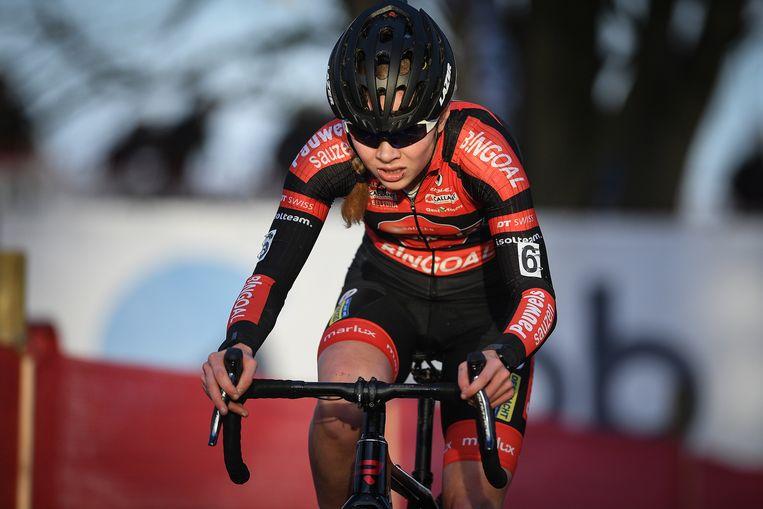 Verdonschot werd tweede bij de elite vrouwen, na Sanne Cant.