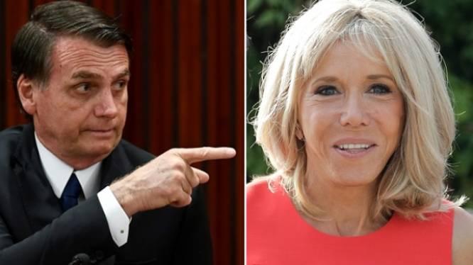 """Franse president haalt hard uit nadat Bolsonaro zich vrolijk heeft gemaakt over uiterlijk Brigitte Macron: """"Extreem respectloos en treurig"""""""