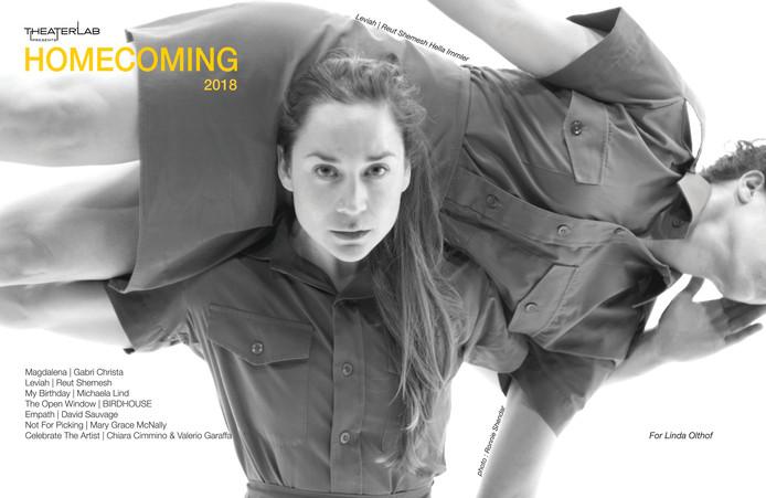 Het programma van het herfstprogramma van Theaterlab, opgedragen aan Linda Olthof.