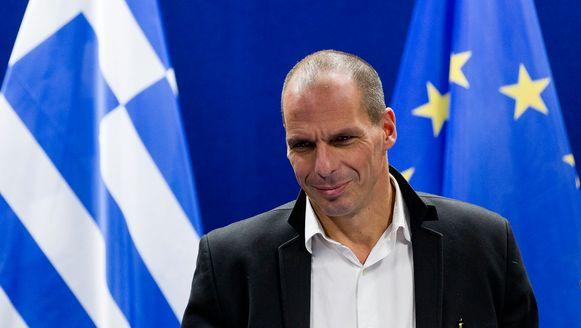 De Griekse minister van Financiën Yanis Varoufakis.