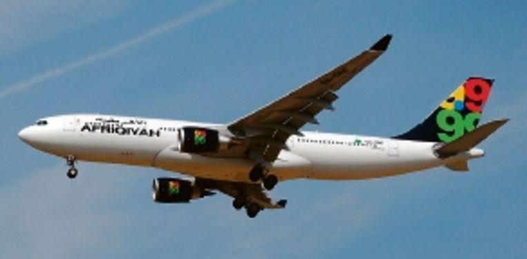 Een Airbus A330-200 van Afriqiyah Airways ( FOTO AFP ) Beeld AFP