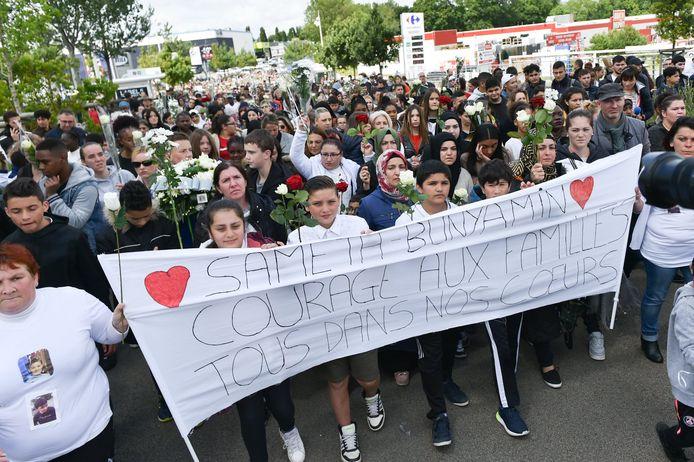 Marche blanche après le décès du petit Bunyamin Arslan