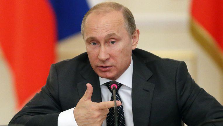 De Russische president Poetin. Beeld getty