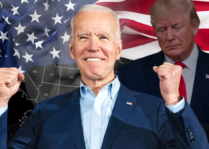 De race lijkt gelopen met Biden aan kop in het merendeel van de resterende staten.