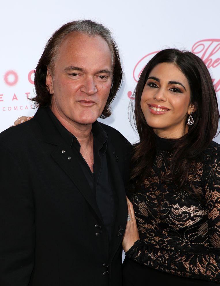 Quentin Tarantino en Daniella Pick op de première van 'The Beguiled' in Californië op 13 juni 2017.