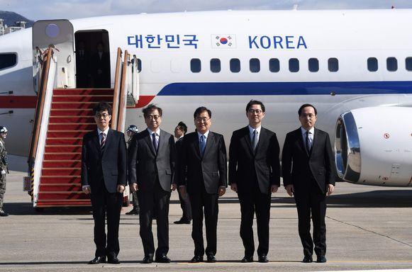 De Noord-Koreaanse leider Kim Jong-un zal de Zuid-Koreanen verwelkomen op een diner.