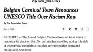 'Aalst carnaval stapt uit Unesco' is wereldnieuws: artikels in New York Times en Jerusalem Post
