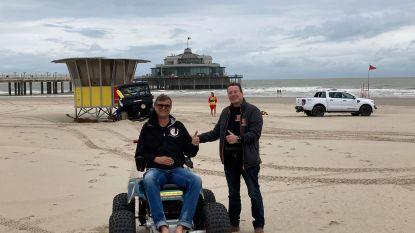 """Strand van Blankenberge pronkt met een primeur: """"Mensen kunnen nu zelfstandig richting waterlijn rijden"""""""