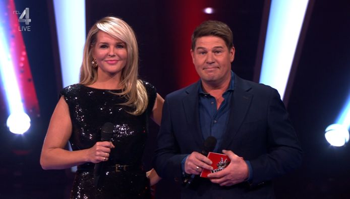 Chantal Janzen en Martijn Krabbé in The Voice of Holland.