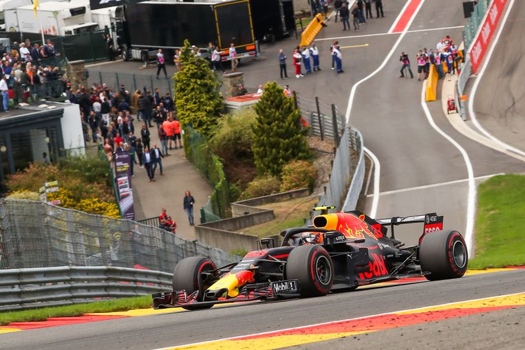 Max Verstappen tijdens de GP van België