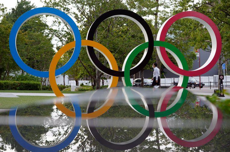 De Olympische ringen in Tokio. Beeld EPA
