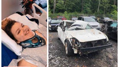 17-jarig meisje zit 7 uur lang vast in verhakkeld autowrak, mama vindt haar dankzij 'Find My Friends'