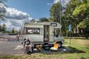 Paul Essers uit Venlo staat hier op de camperplaats in Gennep.