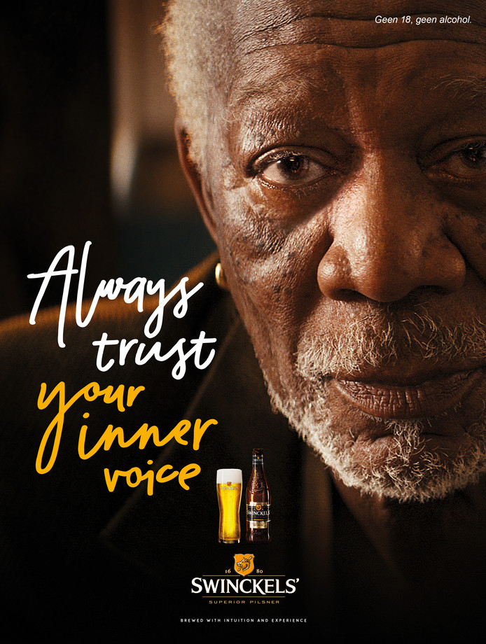 Morgan Freeman in nieuwste reclame van Bavaria.