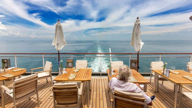 Met plaats voor 502 passagiers is de Europa 2 een cruiseschip van bescheiden formaat Beeld Sander Groen