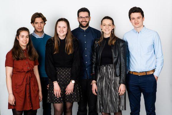Clara Breugelmans, Jeroen Joris, Gitte Wuijts, Michaël Vlaeminck, Marie Janssenswillen en Stef Maes.