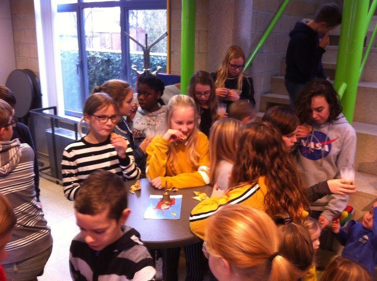Een leuke nieuwjaarsreceptie voor de leerlingen van VBS De Krekel.