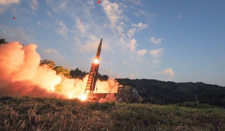 Een Zuid-Koreaanse Hyunmoo II-raket.