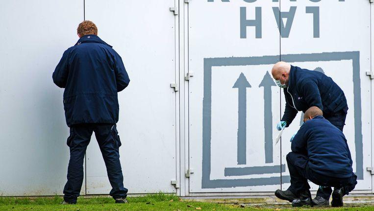 Politieonderzoek bij de Kunsthal. Beeld anp