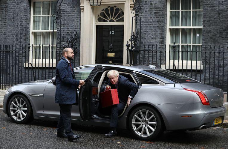 Premier Boris Johnson woensdag in Londen. Beeld Getty Images