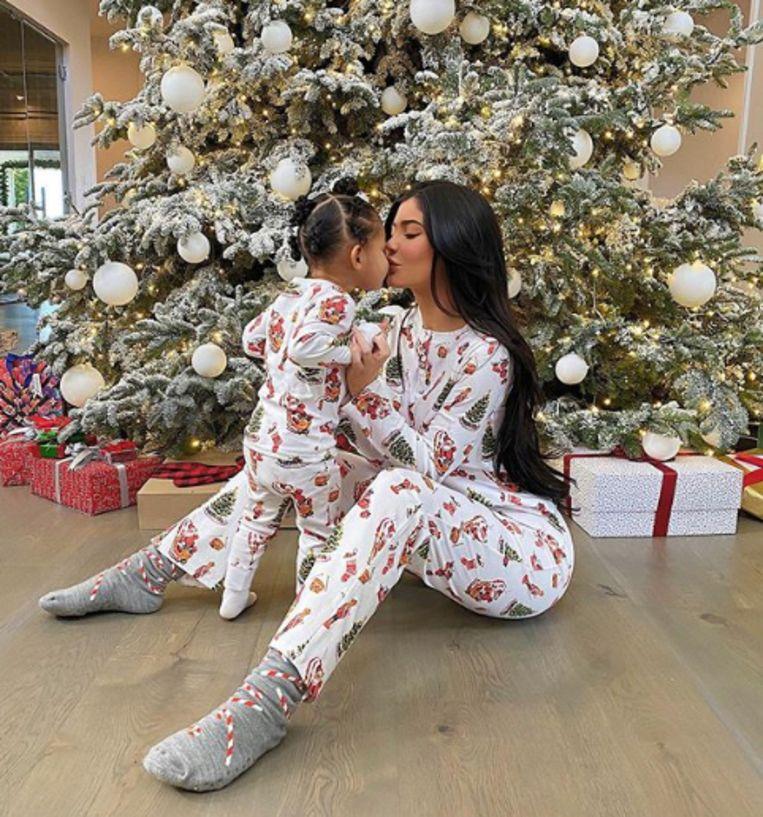 Kylie Jenner en haar dochter, Stormi.