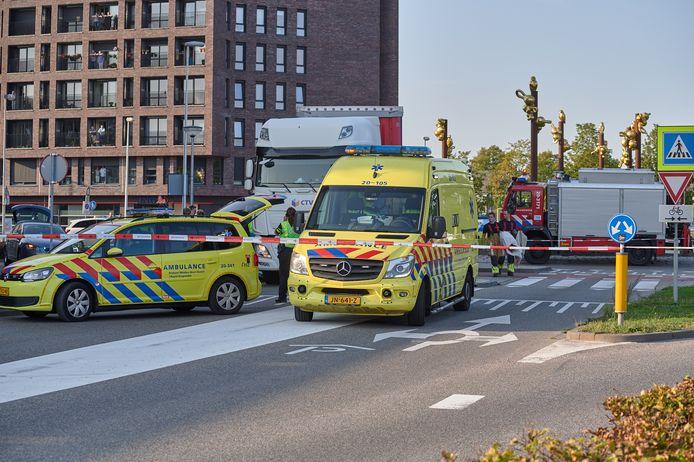 Ernstig ongeluk tussen vrachtwagen en fietser in Etten-Leur.