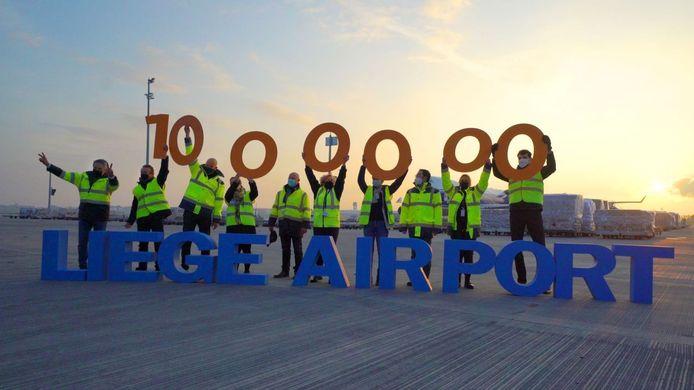 Un million de tonnes transportées à Liege Airport.